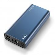 УМБ Power Bank Topk 2xUSB 20000 mAh синий 3 входа - microUSB, USB Type-C , Apple Lightning (TKI2006-BE)