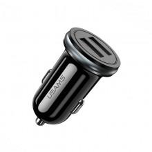 Автомобильное зарядное устройство Usams 12W 2.4A 2xUSB Mini Black (US-CC050-BL)